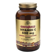 Solgar Chewable Vitamin C 500mg Raspberry 90 μασώμενες ταμπλέτες